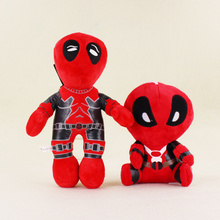 2 Styles Kawaii Superhero X man Deadpool with Sucker Plush Soft Stuffed Doll Toys For Kids