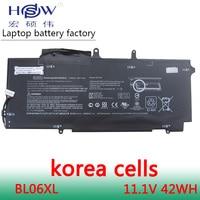 HSW New laptop batteries for HSTNN DB5D HSTNN W02C BL06XL 722236 2C1 EliteBook Folio 1040 G1 L7Z22PA 11.1V battery for laptop