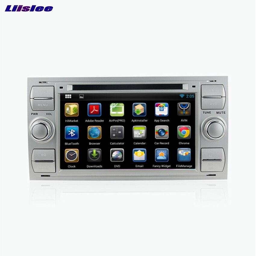 Liislee для Ford Focus Android автомобиля Bluetooth стерео навигации dvd-плеер мультимедиа аудио-видео Радио Multi-Сенсорный экран