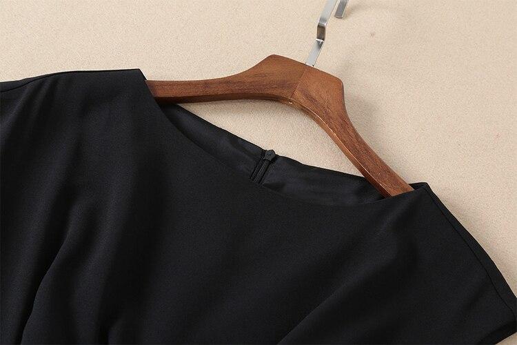 Volant Veste Puro Split Alta Qualità Della Donne Nero Del Di Estate Da Femme Elegante Ete Delle Truevoker Vestito Progettista Caviglia Lunghezza zw7UqqO6