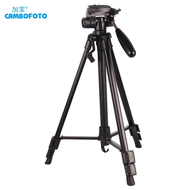 Cambofoto Tripod Professional Portable Travel Aluminium Camera Tripod Accessories Stand with Pan Head for Canon Dslr Camera aluminium alloy professional camera tripod flexible dslr video monopod for photography with head suitable for 65mm bowl size