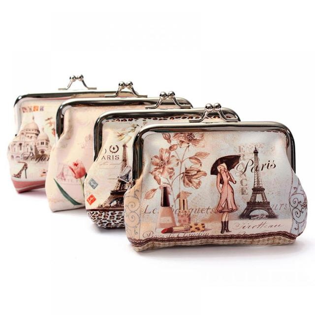 Hot Women Cute Coin Purse Top Leather Character Small Wallet Girls Change Pocket Pouch Hasp Keys Bag Metal Bar Opening New Coin Purses & Holders