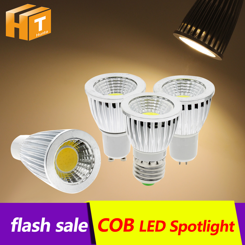 LED Bulb Spotlight cob Bulb led E27 COB LED Lamp Cup 3W 5W 7W 9W GU10 MR16/GU5.3 AC85-265V White/Warm White led light lamp цены