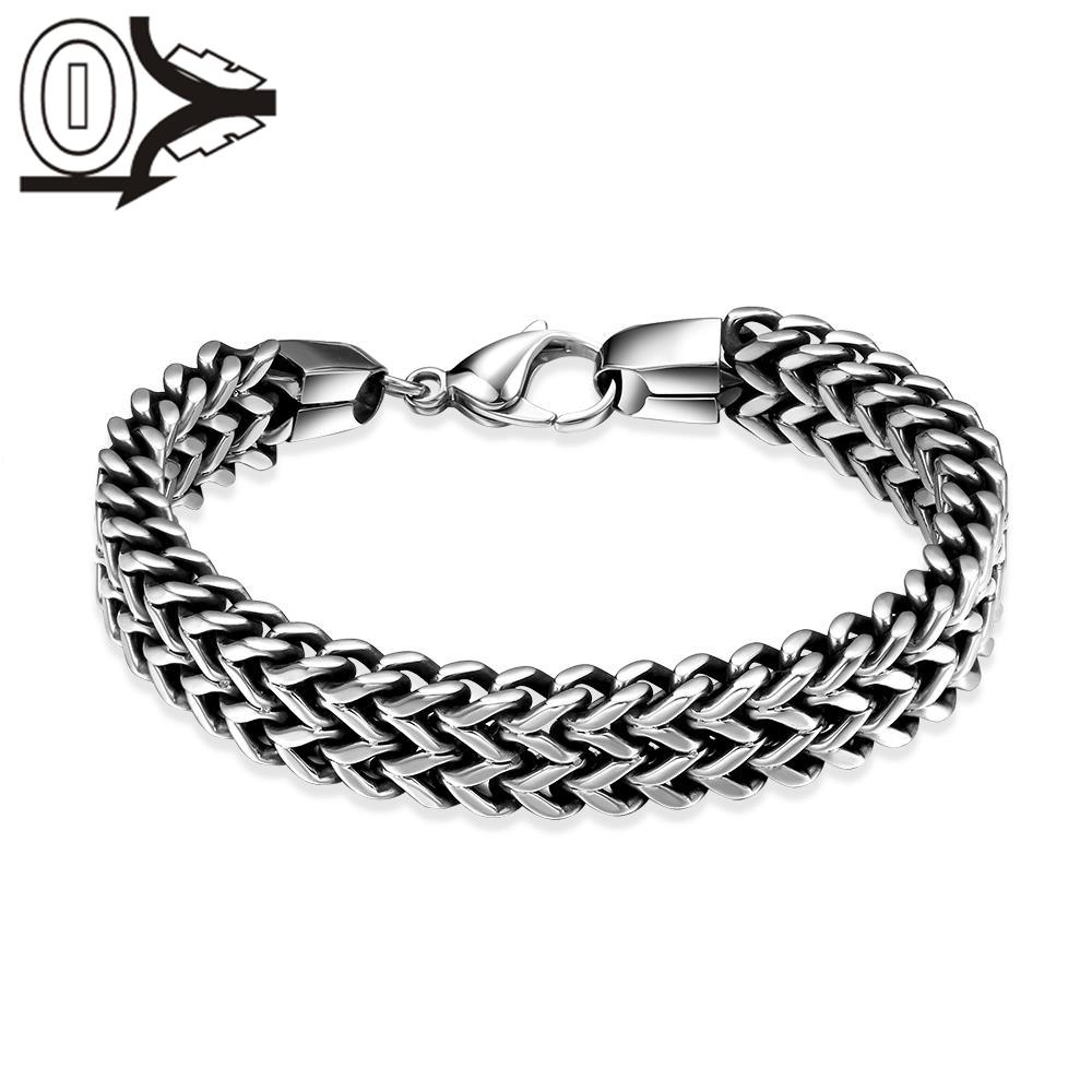 H025 Fashion 316L stainless steel bracelet for manBlack Titanium Movie Magic Vintage Punk Style Male Bracelets