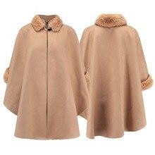 ZYSK High Quality Autumn Winter Women Cashmere Jacket Long Plus Size XXXL Black Ladies Loose Woolen Coat for Woman Streetwear