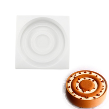 3D Silicone Around Shape Circle Pattern Mould Baking Tools For Cakes Chocolate Brownie Mousse
