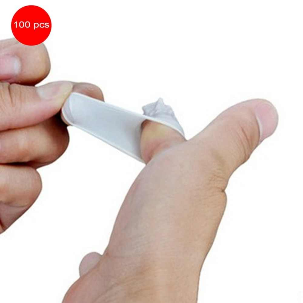 100 unids/set Durable de látex Natural de la Anti-estática dedo cunas diseño práctico desechables maquillaje ceja extensión guantes herramientas
