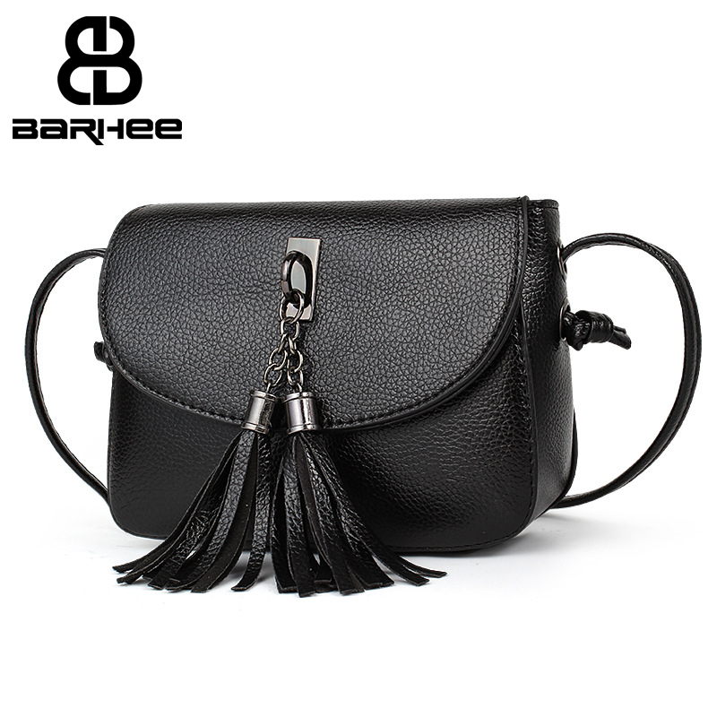 BARHEE New Women Mini Sling Bags Fashion Shoulder Bag for Girls Tassels Toy Vintage Small Saddles Pouch PU Leather Crossbody Bag