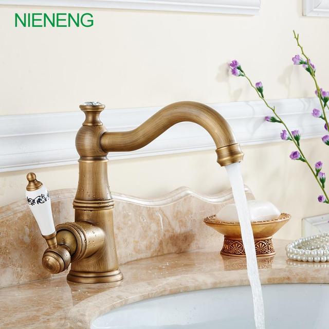 NIENENG retro basin faucet for bathroom basin sink bathroom tap ...