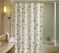 Free shipping Waterproof mouldproof bath shade bathroom shower curtain shower curtain The little flower door curtain Partition c