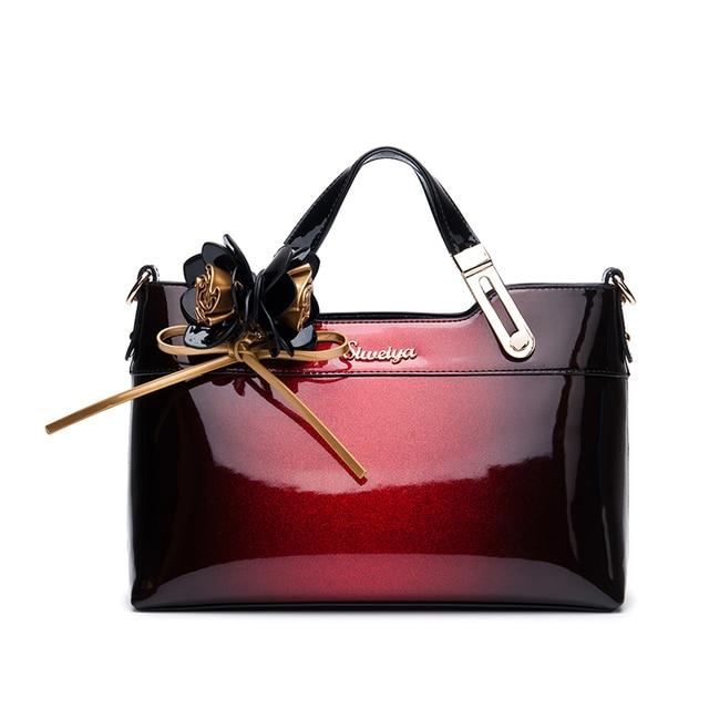 New 2018 brand luxury handbag women bag designer high quality patent leather shoulder messenger bags ladies office clutch totes