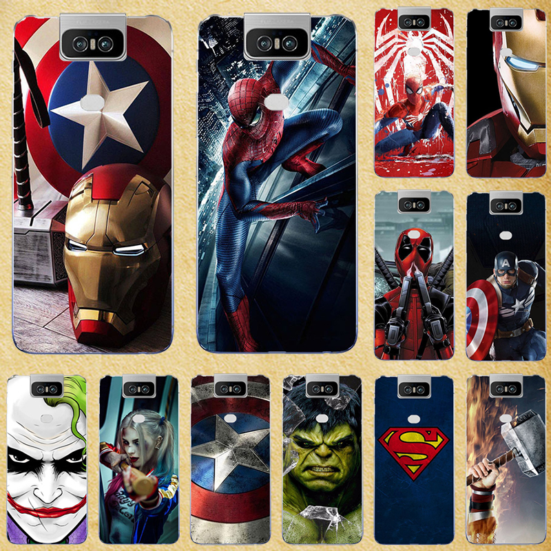 Super Hero Phone Case Cover For <font><b>Asus</b></font> <font><b>Zenfone</b></font> <font><b>6</b></font> <font><b>2019</b></font> Case Silicone TPU Cover Phone Case For <font><b>Asus</b></font> Zenfone6 <font><b>ZS630KL</b></font> ZS 630KL I01WD image