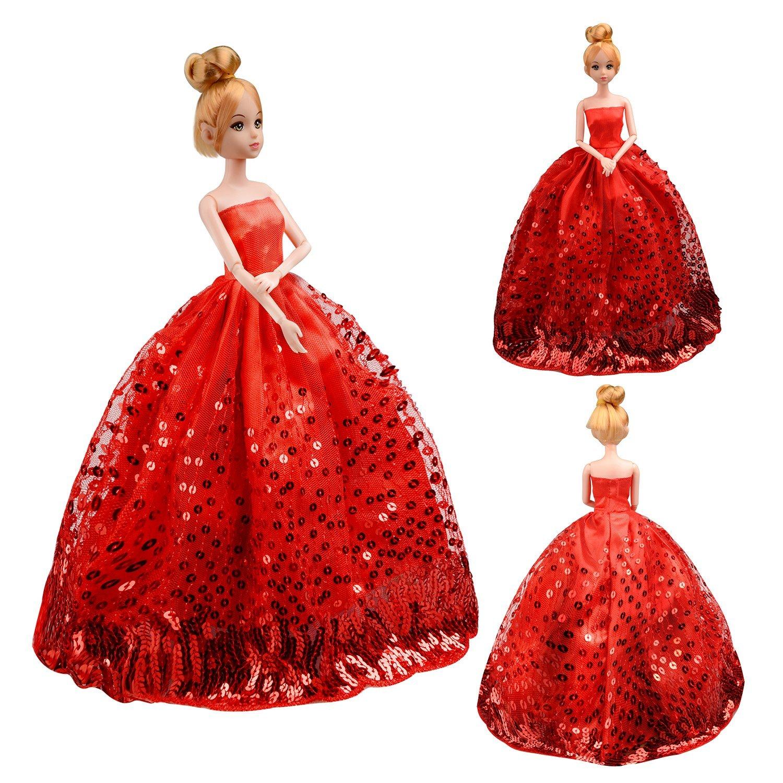 Saleaman precioso vestido de novia hecho a medida para la muñeca - Muñecas y accesorios - foto 1