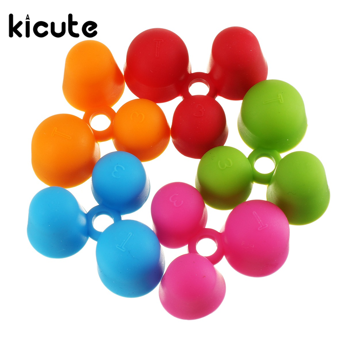 Kicute 5pcs/lot Pencil Grips Occupational Therapy Handwriting Aid Kids School Stationery Pen Control Right Silicone Writing