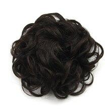 Soowee 4 Цветов Синтетический Высокая Температура Волокна Вьющиеся Шиньон Волосы резинкой Волос Bun Donut Ролик Шнурок Шиньоны