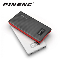 Genuine PINENG PN 963 10000mAh Portable Battery Mobile Power Bank USB Charger Li Polymer With LED