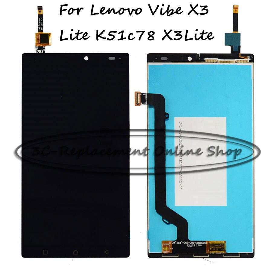 imágenes para Lcd + tp para lenovo k4 note a7010a48 a7010 x3 vibe lite k51c78 x3lite reemplazo de pantalla lcd + digitizador de la pantalla táctil smartphone