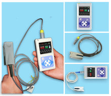 CE FDA New Hand-Held Pulse Oximeter Blood Oxygen USB PC analysis software CMS60D(China (Mainland))