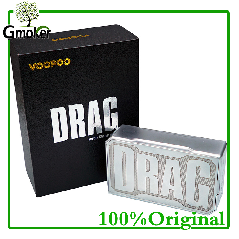 Authentic Voopoo Drag 157W TC VW Box Mod W/O 18650 Battery Temperature Control Electronic cigarette vape second fire high power