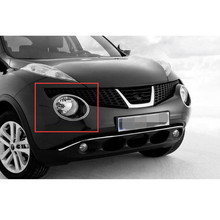 купить Chrome ABS Car Exterior Front Bumper Head Light Lamp Ring Cover Trim Bezel Styling For Nissan Juke 2010-2014 Accessory онлайн