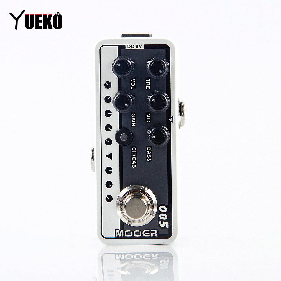 MOOER 005 Brown Sound 3 Digital Preamp electric guitar pedal High quality dual channel preamp Independent 3 band EQ mooer 001 gas station digital preamp electric guitar pedal high quality dual channel preamp independent 3 band eq