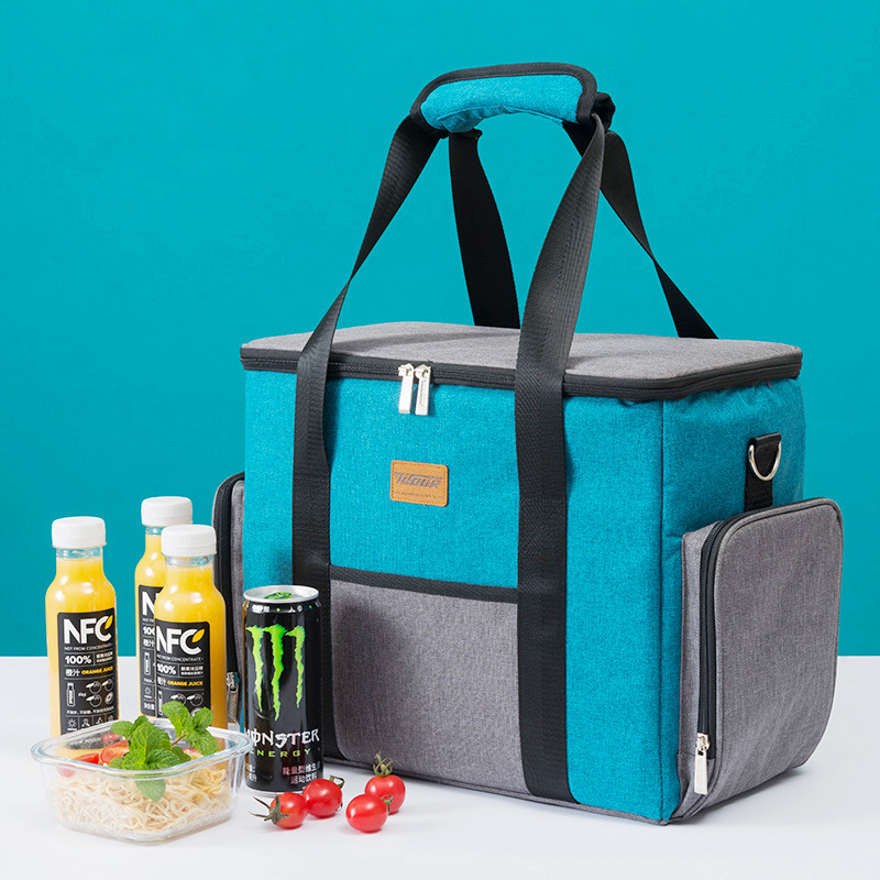 New fashion environmental large capacity lunch bag box thermo food insulated picnic bag kids women insulated