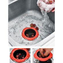 hot deal buy kitchen plastic plum-type floor drain tpr sink filter sink plug creative household merchandises bathroom accessories