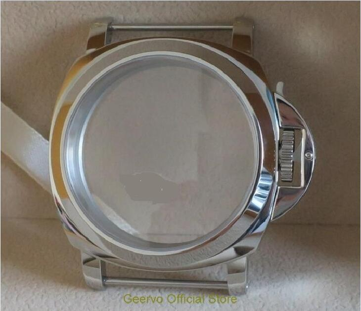 44mm High quality 316L Stainless steel 111 watch cases fit ETA 6497 6498 Mechanical Hand Wind