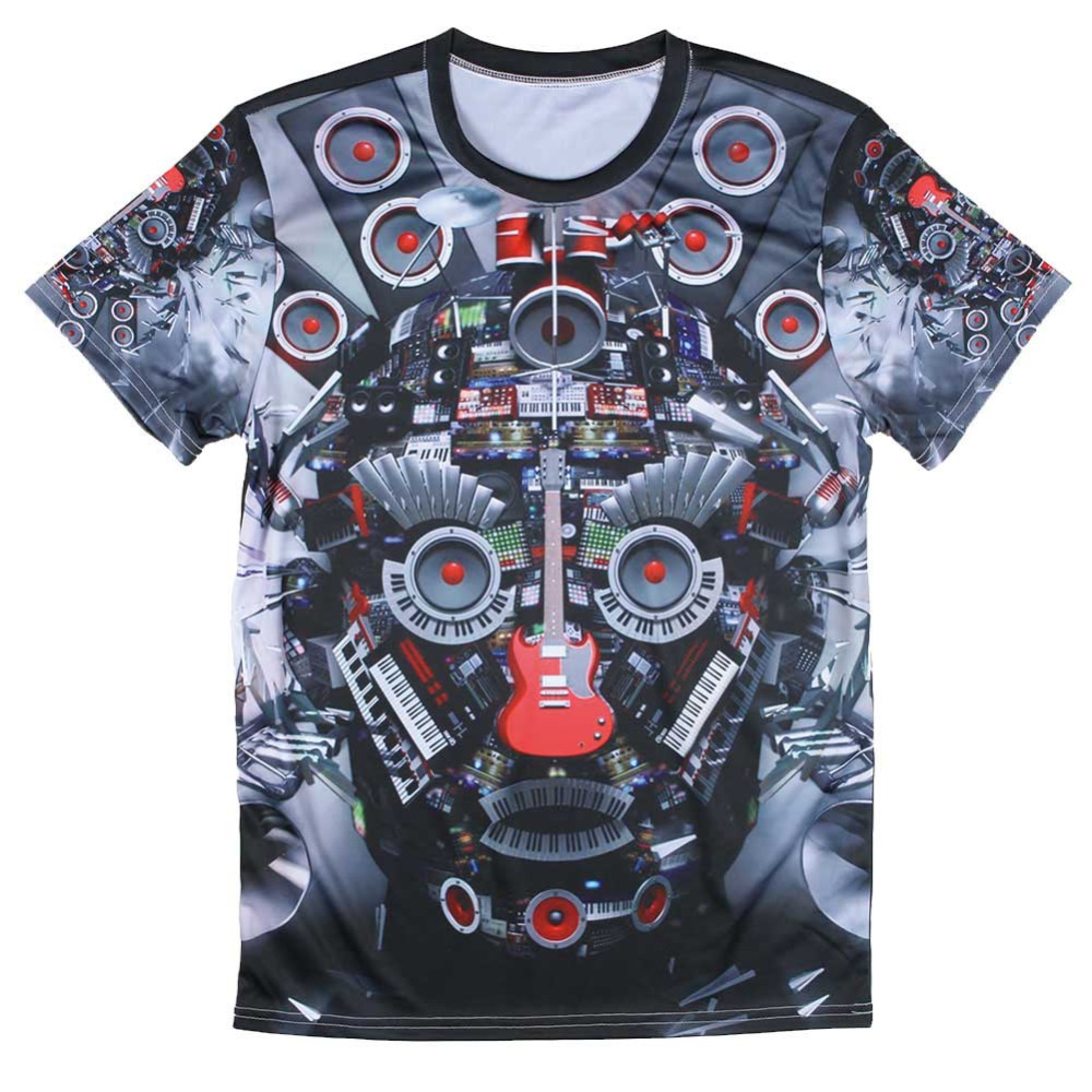 Sublimated Print 3d High Quality T Shirts Latest Man T Shirts Design