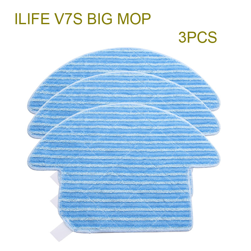 3 pcs Original ILIFE V7S Mop cloths of Robot Vacuum Cleaner Accessories from the factory. кружка loraine бант 340 мл