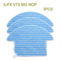 3 Pcs Original ILIFE V7S Mop Cloths Of Robot Vacuum Cleaner Accessories From The Factory