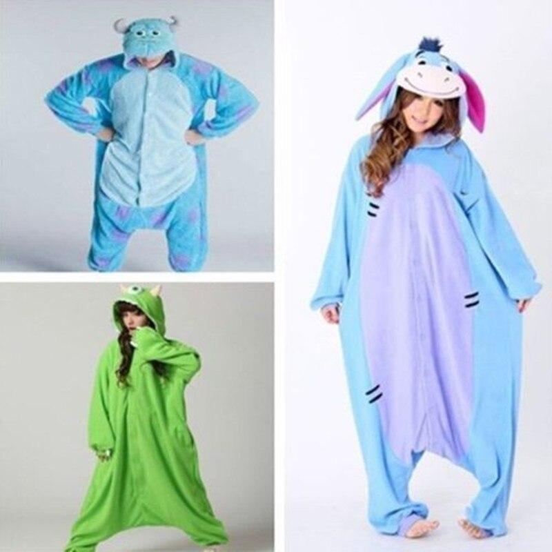 New Adult Spyro Dragon Animal Monsters University Mike Wazowski&Sulley Onesies Pyjamas Anime Costume Onesie Sleepwear