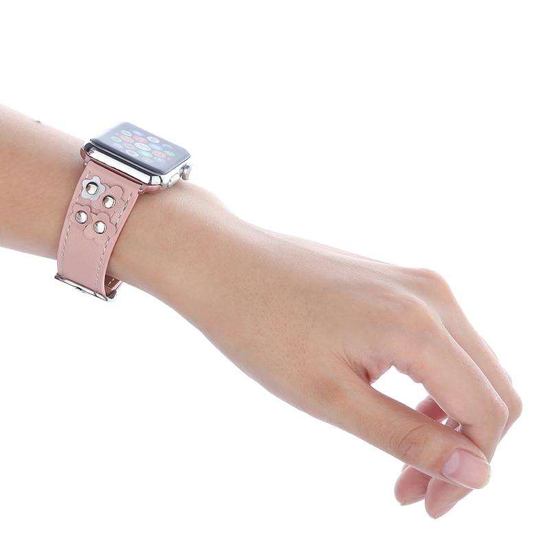 Bucle de cuero genuino FOHUAS para Apple Watch 5 bandas 44 mm 42 mm - Accesorios para relojes - foto 5