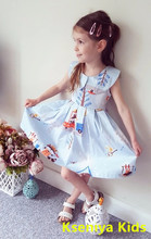 Kids Girls Sleeveless Dress Fashion 2-14 Years