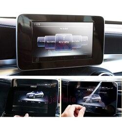 Akcesoria do Mercedes Benz GLA GLC 300 260 C200 180 wnętrze GPS ekran komputera jazdy ochrona przezroczysta folia Car Styling