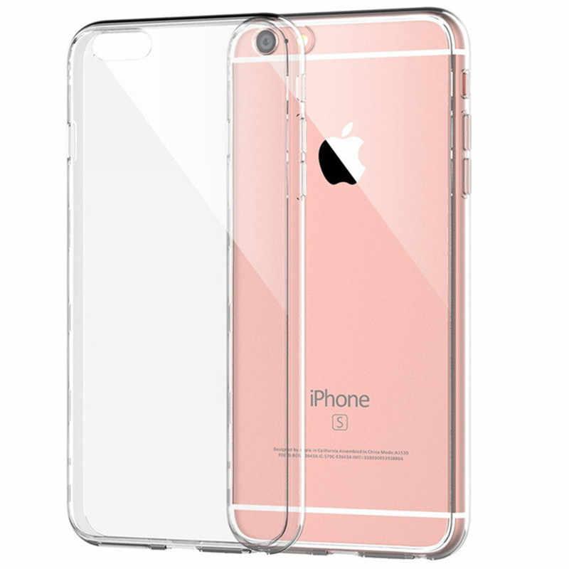 رقيقة جدا شفافة واضحة لينة سيليكون غطاء إطار هاتف محمول Fundas كوكه آيفون X 6 S 7 7Plus 6 S 6Plus 8 8Plus 5s 5s SE 4s