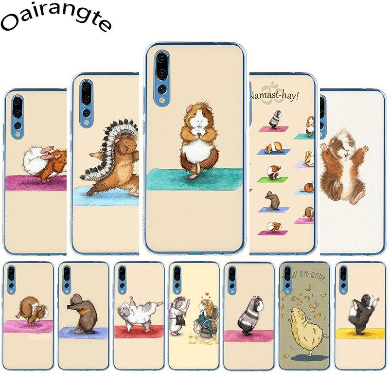 ①  Жесткий чехол для телефона Yoga Guine Pigs Art Huawei Honor 6A 6C 7A Pro 7C 7X 8C 8X 8 9 10 Lite Pla ①