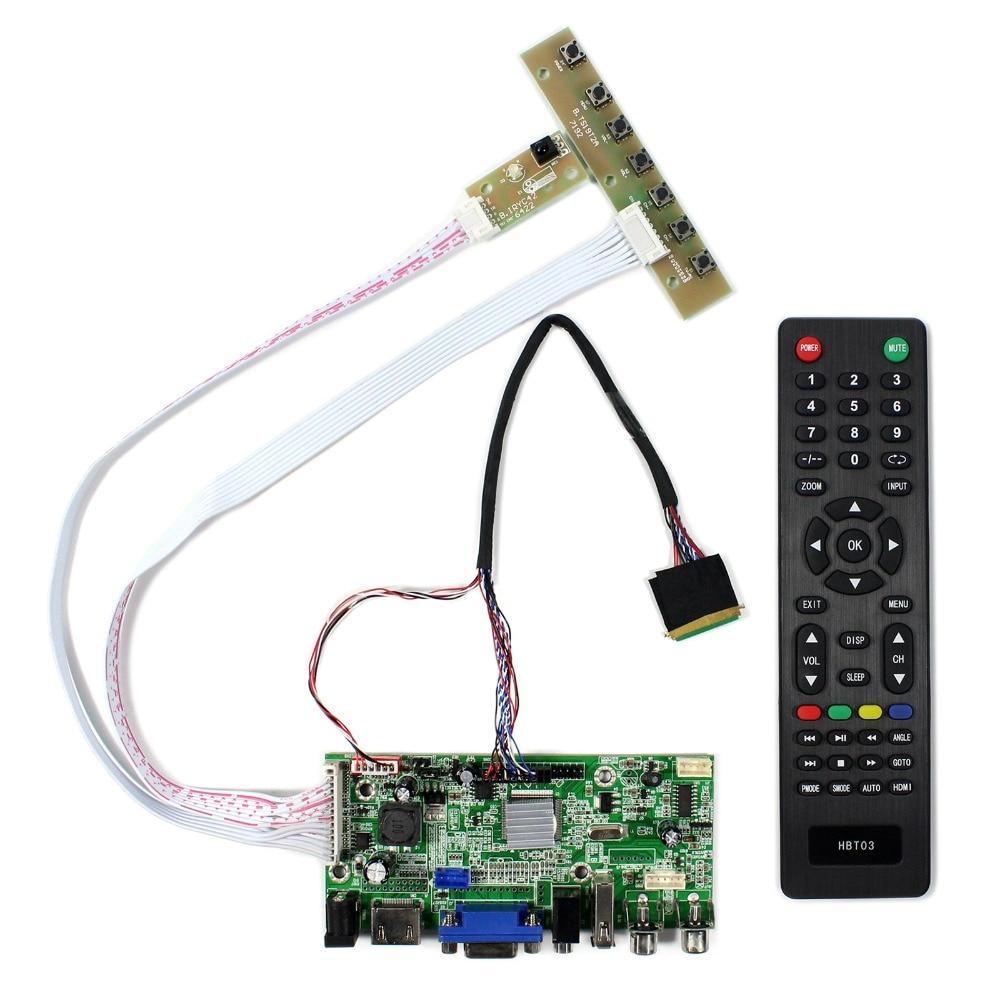 HDMI+VGA+2AV+USB+Audio LCD Controller Board For 14inch 15.6inch 1366x768 LTN140AT02 B156XW02 LCD Screen hdmi vga 2av audio lcd controller board for 15 6inch 1366x768 ltn156at17 b156xw02 lcd screen