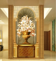 Custom photo 3d wallpaper Non woven mural picture Europe type restoring ancient ways porch flowers wallpaper mural wall paper