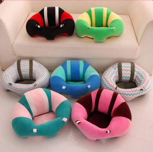 ab305c85ae9 2018 New Kid Baby Support Safety Seat Sit Up Soft Chair Round Soft Cotton Cushion  Sofa Plush Pillow Toy Bean Bag