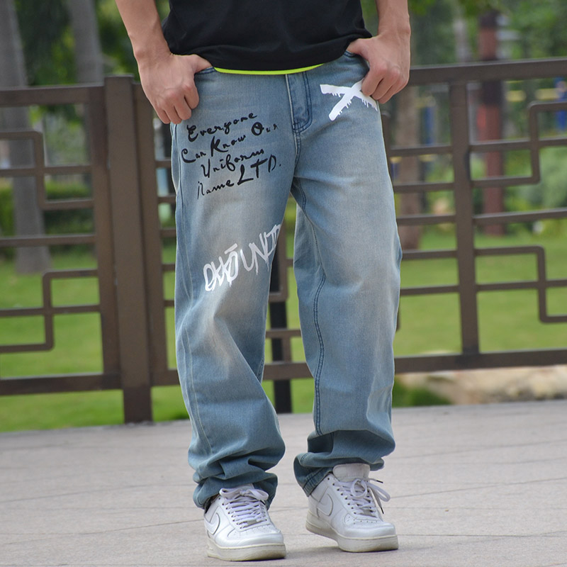 New Arrival Men s Plus Size Straight Jeans Loose and Plus Size Hiphop Denim Trousers