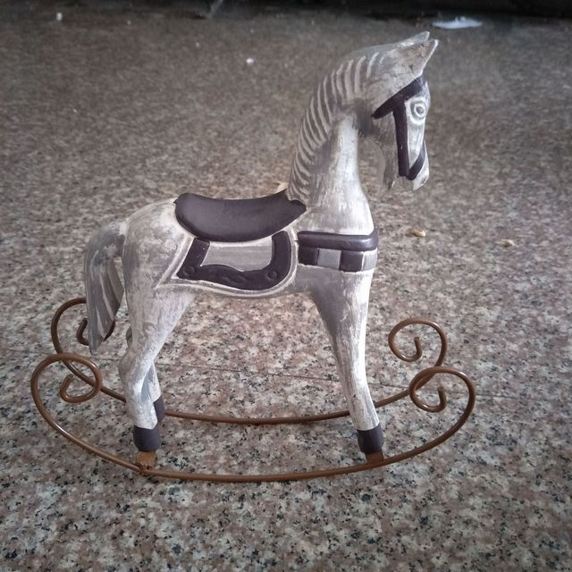 retro Wooden Decorative Horse Figurine