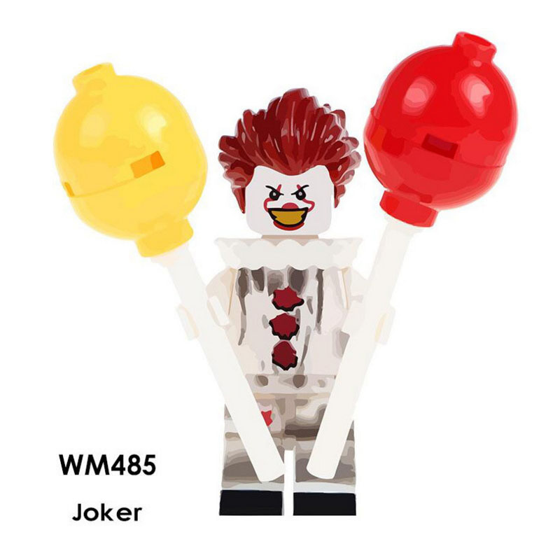 Single Sale Super Heroes Star Wars 485 Joker Model Mini Building Blocks Figure Bricks Toys Kids Gifts Compatible Legoed Ninjaed