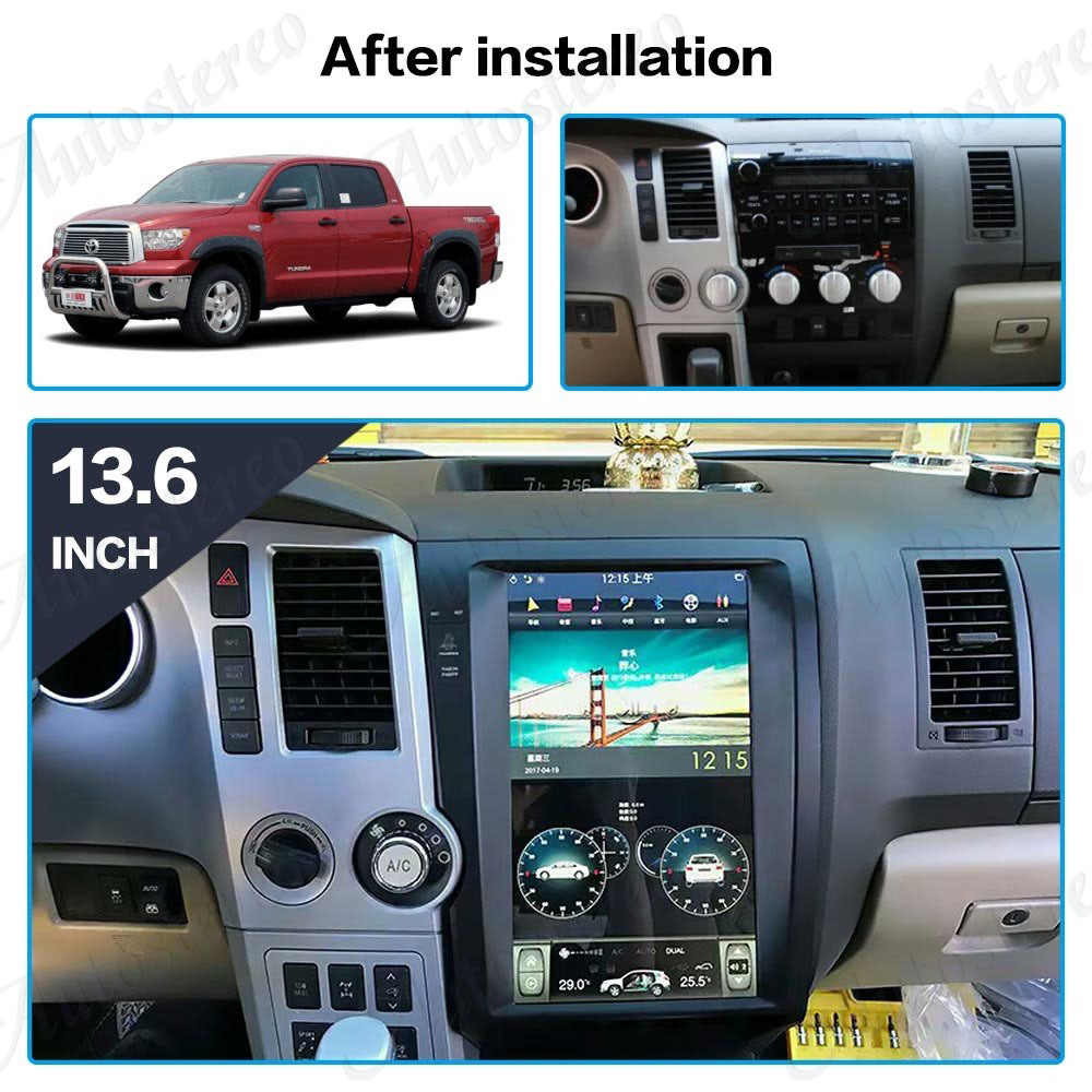 autostereo tesla style car gps navigation for toyota sequoia 2007 2013 headunit stereo multimedia player [ 1000 x 1000 Pixel ]