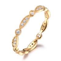 14k Yellow Gold Diamond Wedding Band Full Eternity Antique Marquise Milgrain Engagement Bridal Stacking Ring Anniversary