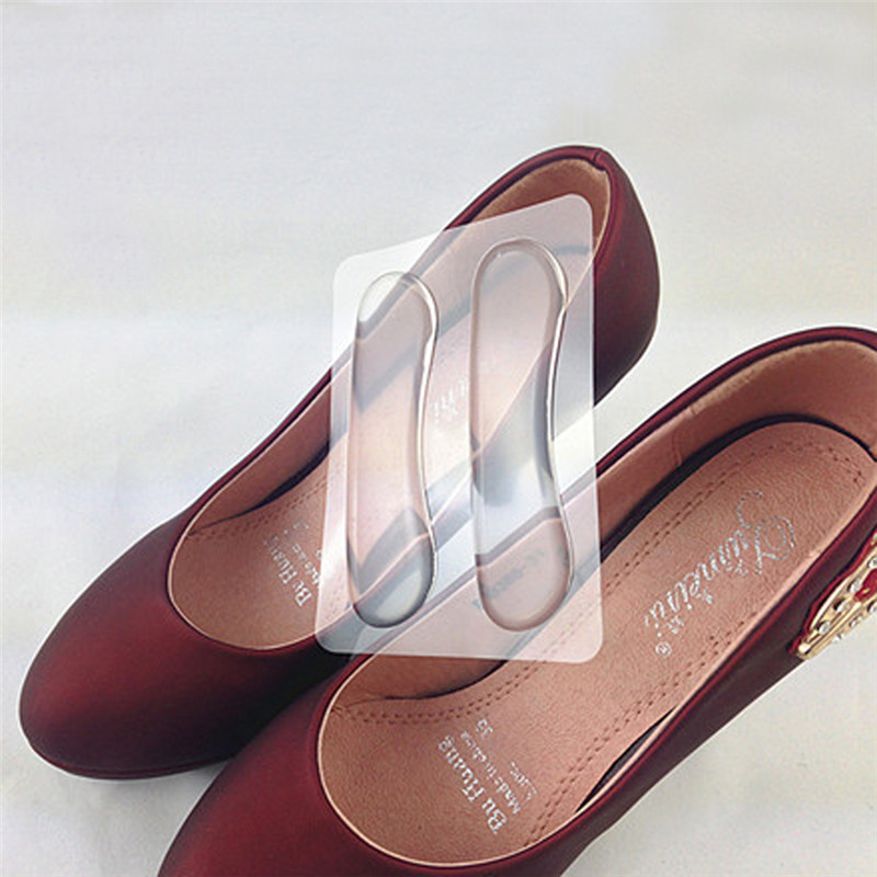 2 Pair Foot Care Transparent Silicone Heels Detox
