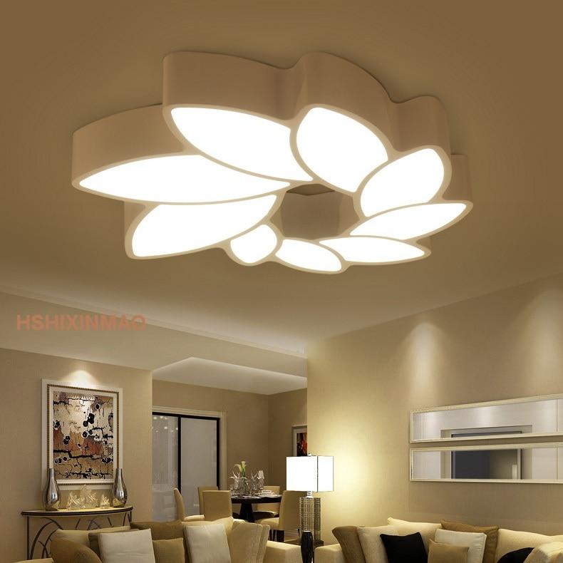 Led Petals Ceiling Lamp Leaf Shaped Living Room Lights