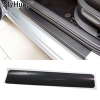 Car Accessories Door Sill Scuff Welcome Pedal Threshold Carbon Fiber Protect Stickers For Skoda Octavia A5