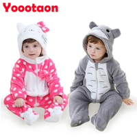 2016 Kawaii Brand Baby Girl Boy Clothes One Pieces Rompers Totoro Cat Rabbit Bear Newborn Baby
