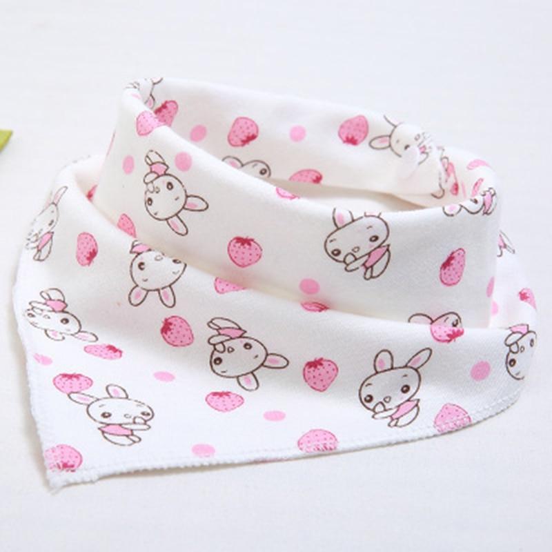 Cute Baby Waterproof Bib Bandana Bibs Cartoon Animal Print Cotton Newborn Infant Girls Boys Toddler Triangle Scarf Baberos Bebe